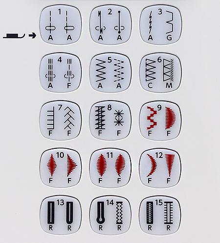 Строчки швейной машины Janome DC 4030 (с жестким чехлом)