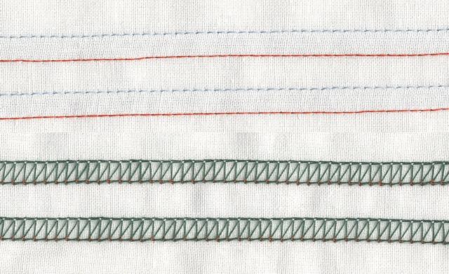 Инструкция по эксплуатации написана вполне доходчиво, содержит понятные схемы заправки и настройки оверлока.