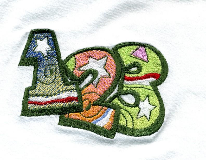 Машинка для вышивания букв на материале