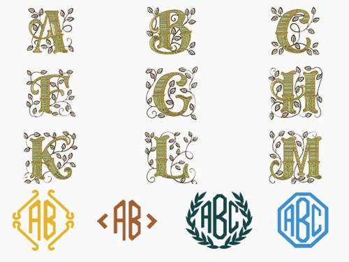 6 алфавитов и монограммы
