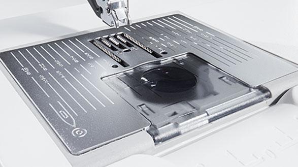 Сенсор для прямострочной игольной пластины