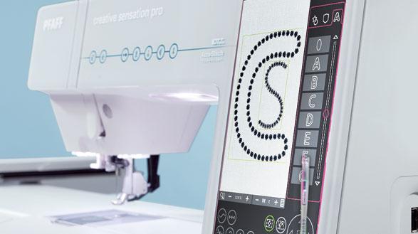 Цветной сенсорный дисплей PFAFF® creative™